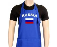 Coole-Fun-T-Shirts Uni Grillschürze EM 2012 Russia, blau, One size, GS10483_Russia_Blau
