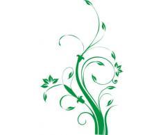 INDIGOS WG30310-61 Wandtattoo w310 Blume Ast Äste Baum Pflanze Wandaufkleber 120 x 74 cm, grün