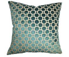 The Pillow Collection Kissenbezug Kostya, geometrisch, Überwurf 18 x 18 Navy