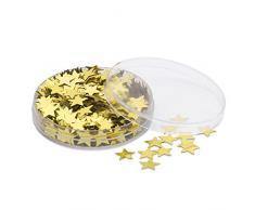 eBuyGB Tischkonfetti Stern, Plastik, Gold, 2er-Packung
