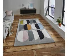 Think Rugs Teppich, Wolle, Mehrfarbig, 120 x 170 cm