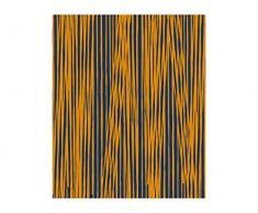 Pt, (Present Time) Fleece Decke Oblique Lines dunkelblau, Currygelb, Vlies, L. 180 cm, W. 150 cm