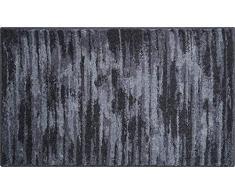 Grund Badteppich 100% Polyacryl, ultra soft, rutschfest, FANCY, Badematte 70x120 cm, anthrazit