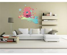 INDIGOS KAR-Wall-clm029-58 Wandtattoo fürs Kinderzimmer clm029 - Lustige kleine Monster - Qualle - Wandaufkleber 58 x 55 cm