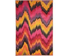Benuta Liguria 80x140 cm   Moderner Teppich für Wohn-und Schlafzimmer, Kunstfaser, Multicolor, 80 x 140 cm