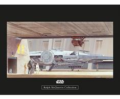 Komar Wandbild Star Wars Classic RMQ Mos Eisley Hangar | Kinderzimmer, Jugendzimmer, Dekoration, Kunstdruck | ohne Rahmen | WB153-40x30 | Größe: 40 x 30 cm (Breite x Höhe)
