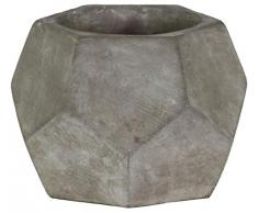 Benjara sechseckiger Blumentopf mit konischem Boden, grau