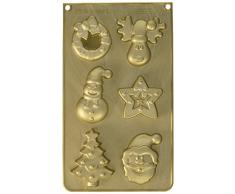 SCRAPCOOKING 3155Â Multi Weihnachten Backform Silikon Gold 33Â x 17,5Â x 3Â cm