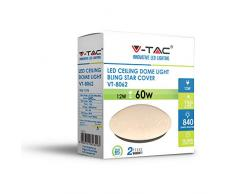 V-TAC 12W LED Deckenleuchte mit Glitzer- und Sterneneffekt Sensorkompatibel Weißes Finish IP20 6400 Kelvin Weiß   Ideal für Schlafzimmer Wohnzimmer Kinderspielzimmer