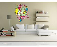 INDIGOS KAR-Wall-clm008-58 Wandtattoo fürs Kinderzimmer clm008 - Lustige kleine Monster - Heftigen Riesen - Wandaufkleber 58 x 65 cm