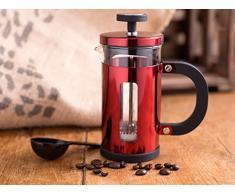 Creative Tops La Cafetiere Pisa für 3Tassen Kaffeemaschine mit Löffel, Rot Metallic