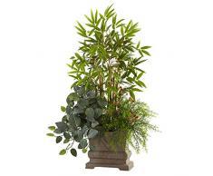 Nearly Natural Mixed Mini-Bambus, Fittonia & Springeri mit Übertopf, 96,5 cm