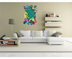 INDIGOS KAR-Wall-clm002-70 Wandtattoo fürs Kinderzimmer clm002 - Lustige kleine Monster - Verrückte Geister - Wandaufkleber 70 x 101 cm