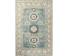 Solo Rugs Khotan Krug One of a Kind Hand Knotted Area Rug Teppich, 100% Wolle, blau, 6 2 x 9 1