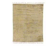 Solo Rugs Boxy Morrocan Shaggy Handgeknüpfter Teppich Marokkanisch 5 X 8 gelb