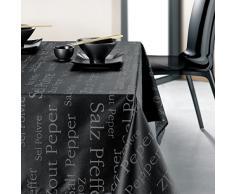 Torchons & Bouchons Geschirrtücher & Stöpsel Tischdecke rechteckig Beschichtete Baumwolle schwarz Salz und Pfeffer 250x 150
