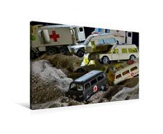 Premium Textil-Leinwand 90 x 60 cm Quer-Format Spielzeug Sanitäts - Transporter | Wandbild, HD-Bild auf Keilrahmen, Fertigbild auf hochwertigem Vlies, Leinwanddruck von Ingo Laue