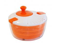 STONELINE 18905 Salatschleuder mit Kurbel, ideal zum Waschen und Trocknen von Salat, Gemüse und Kräutern Küchenhelfer, Kunststoff, orange, 25.6 x 25.9 x 16.1 cm