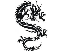 INDIGOS WG30007-86 Wandtattoo w007 Drachen China Japan Monster 120x78, blau