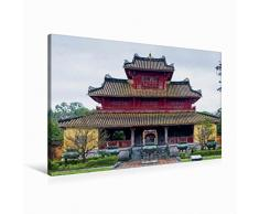 Premium Textil-Leinwand 90 cm x 60 cm quer Hien Lam Pavillon, Hue