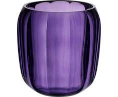 Villeroy & Boch Coloured DeLight Windlicht Gentle Lilac, 15,5 cm, Kristallglas, Klar/Lila