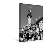 Premium Textil-Leinwand 30 x 45 cm Hoch-Format Detailreiche Laterne mit Statue am Rudolfinum   Wandbild, HD-Bild auf Keilrahmen, Fertigbild auf hochwertigem Vlies, Leinwanddruck von happyroger