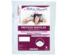 Nuit de France 329390 Schutzbezug für Matratze, Baumwolle, Weiß, weiß, 200 x 200 cm
