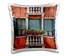 3dRose Blumenkästen, Street Szenen aus Venedig, Italien – EU16 teg0383 – Terry Eggers – Kissen Fall, 16 von 16 Zoll (PC 138222 _ 1)
