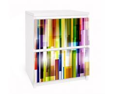 Apalis 91152 Möbelfolie für Ikea Malm Kommode - Selbstklebe Rainbow Cubes, größe 2 mal, 20 x 40 cm