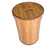 GMMH Original LN47 Bambus Wäschekorb Aufbewahrungsbox Wäschetruhe Wäschebox Wäschesammler Korb