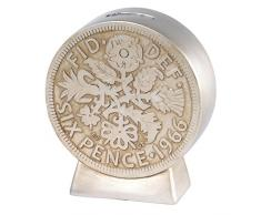 Old Money A28492 Sixpence Bank, Resin, mehrfarbig, 4.5 x 10.5 x 11 cm