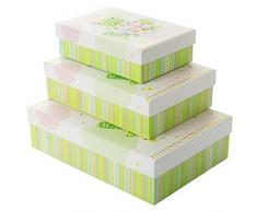 Goldbuch 85 692 - Geschenkkartonagen 3er Set im Turnowsky Design Happy Frog, Set mit 3 Geschenkboxen in verschiedenen Größen, 3 Geschenkkartons mit Kunstdruck, Goldprägung und Relief
