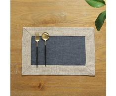PHNAM Platzdeckchen aus Baumwolle / Leinen Esstisch / Küche / Tischmatten Set mit 4 Stück, rutschfest, waschbar, weich, Premium-Kaffeematten, rechteckig, 30 x 45 cm, für Zuhause, Party, Hochzeit, Dekoration für den täglichen Gebrauch