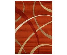 VIVA 19001 Teppich, Synthetikfaser, hell rot / beige, 230 x 160 x 1.6 cm