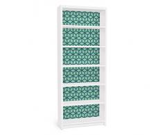Apalis 90824 Möbelfolie für Ikea Billy Regal - Würfelmuster, größe 2 mal, 94 x 76 cm, grün