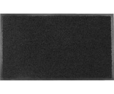 oKu-Tex Fußmatte   Schmutzfangmatte   Eco-Clean  Schwarz   Recycling-Gummi   für innen   Eingangsbereich / Haustür / Treppenhaus / Flur   rutschfest   60x90 cm