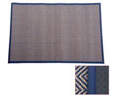 Item Teppich, Bambus, geometrisch, 60 x 90 cm, Blau