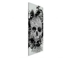 Apalis 108686 Magnettafel Skull Memoboard Design Hoch Metall Magnet Pinnwand Motiv Wand Stahl Küche Büro, 78 x 37 cm