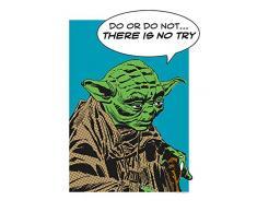 Komar Wandbild Star Wars Classic Comic Quote Yoda | Kinderzimmer, Jugendzimmer, Dekoration, Kunstdruck | ohne Rahmen | WB122-30x40 | Größe: 30 x 40 cm (Breite x Höhe)