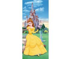 AG Design FTDv 0242 Belle Disney Prinzessin, Papier Fototapete Kinderzimmer - 90x202 cm - 1 Teil, Papier, Multicolor, 0,1 x 90 x 202 cm