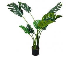 Geko Kunstpflanze Monstera, 120 cm, Grün, Groß, Einheitsgröße