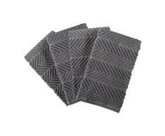DII Geschirrtuch, 100% Baumwolle, sehr saugfähig, Reinigung, Trocknen, für den täglichen Gebrauch, 40,6 x 66 cm, Grau, 4 Stück Barmop Handtuch grau