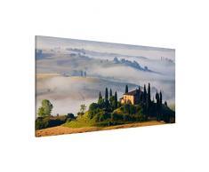 Apalis 108785 Magnettafel Landgut in der Toskana Memoboard Design Quer Metall Magnet Pinnwand Motiv Wand Stahl Küche Büro, 37 x 78 cm