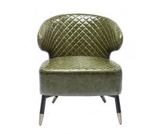 Kare Sessel Session Grün, 80818, Cocktailsessel im Retrodesign, filigranes, edles Stahl Gestell, Loungesessel aus Kunstleder, (HxBxT) 72x66x62 cm