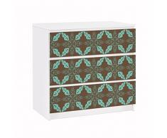 Apalis 91695 Möbelfolie für Ikea Malm Kommode Marokkanisches Ornament, größe 3 mal, 20 x 80 cm
