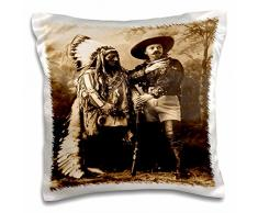 3dRose Sitting Bull und Buffalo Bill 1895 Sepia-Pillow Fall, 16 von 40,6 cm (PC 16256 _ 1)