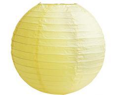 Matissa (40cm, 3-er Pack Lampenschirm aus Papier, für Hochzeit, Party, Dekoration (gelb)