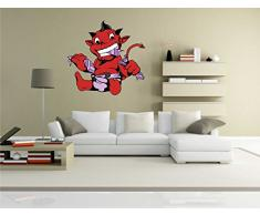 Indigos KAR-Wall-clm006-58 Wandtattoo fürs Kinderzimmer clm006 - Lustige kleine Monster - Vampir verrückt - Wandaufkleber 58 x 55 cm