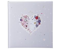 Goldbuch Hochzeitsalbum, Hearts of Flowers, 30 x 31 cm, 60 weiße Seiten mit Pergamin-Trennblättern, Kunstdruck mit Goldprägung, Mehrfarbig, 8164
