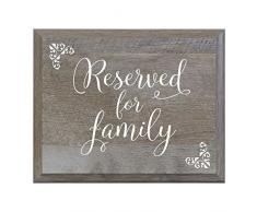 LIFESONG Meilensteine vorbehalten für Familie Deko Hochzeit Party Schilder für und Empfang für Braut und Bräutigam (8 x 10)